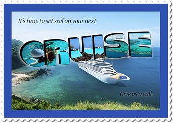 Cruise destination graphic